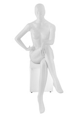 Gloss color mannequin woman isolated
