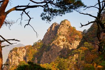 The autumn mountains in Benxi Guanmen mountain scenic spot.