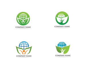 Go green logo vector illustration