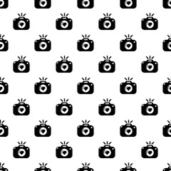 Wedding photography pattern vector seamless repeating for any web design
