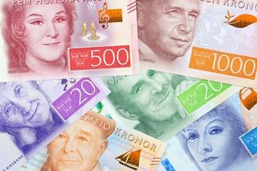 Swedish money a business beckground