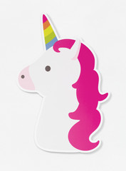 Unicorn icon isolated on white illustration