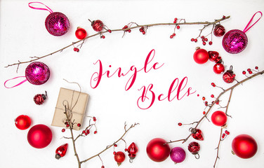 Christmas white wood background with christmas decoration