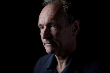 World Wide Web founder Tim Berners-Lee poses for a photograph following a speech at the Mozilla Festival 2018 in London