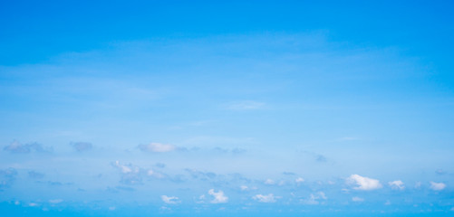 Perfect blue sky and tiny clouds background.