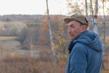 A rustic man with a mustache. Russia. Kaluga region. Village