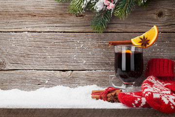 Christmas card with mulled wine