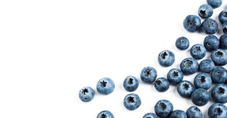 blueberry on white background. Wall mural