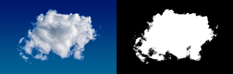 Cloud mask separated from background