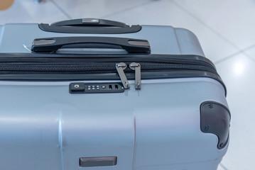 Closeup suitcase travel