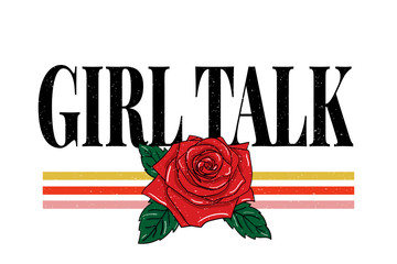 slogan Girl phrase graphic vector Print Fashion lettering calligraphy