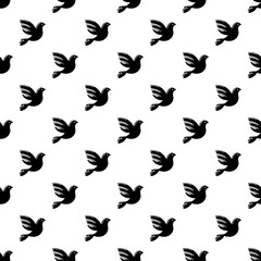 White peace pigeon pattern vector seamless repeating for any web design