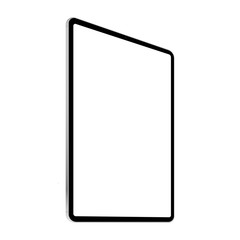 Black tablet computer mock up - left perspective view. Vector illustration