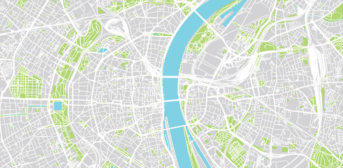 Urban vector city map of Cologne, Germany