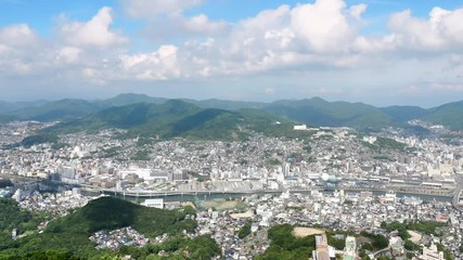 Wall Mural - 都市風景 長崎市 ノーマルスピード 稲佐山からの眺望