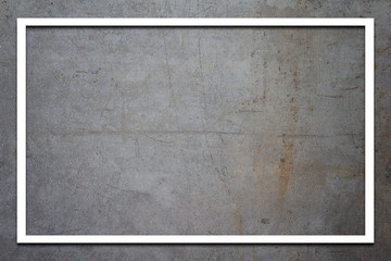 White paper frame on concrete background