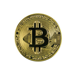 Bitcoin . Crypto currency gold Bitcoin. New way of business bitcoin currency is payment in global business market. Digital currency and financial business concept.