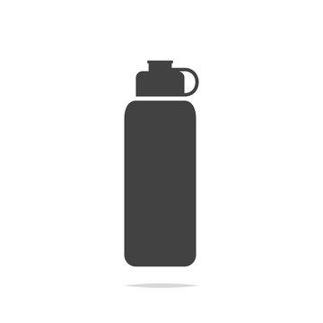 Reusable water bottle icon vector