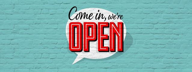 Come in we're open Fotoväggar