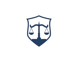 Law firm and justice logo vector template