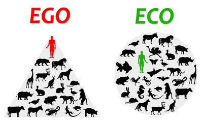 ego and eco Wall mural
