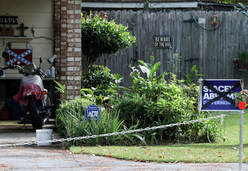 A Stacey Abrams yard sign with a black X in a yard in Valdosta, Georgia.