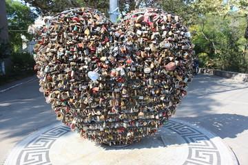 Heart with locks