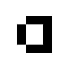 Letter D logo. Icon design. Template elements - vector sign