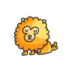 Little cartoon pomeranian dog