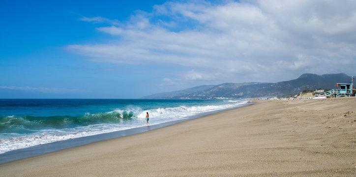 Swimmer, Westward Beach, Malibu, California