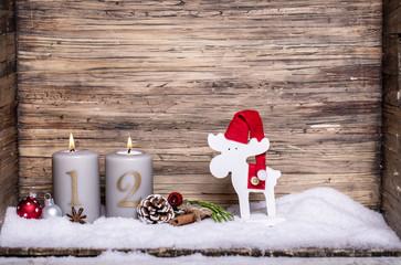 2.Advent Kerze Schnee