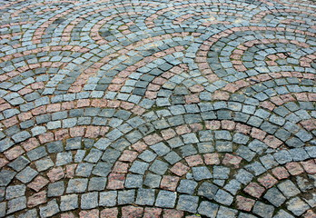 Background.Stated stone pavement