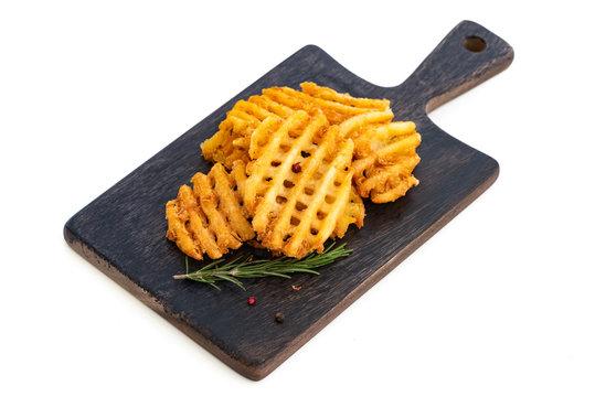 circle french fries on isolated whitebackground