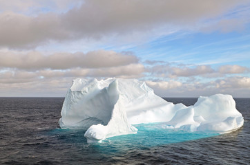 Iceberg in the Drake Passage between the Falkland Islands and Antarctica.