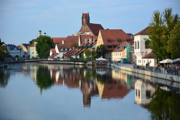 View in the city of LANDSHUT , Bavaria, region Franconia, Germany