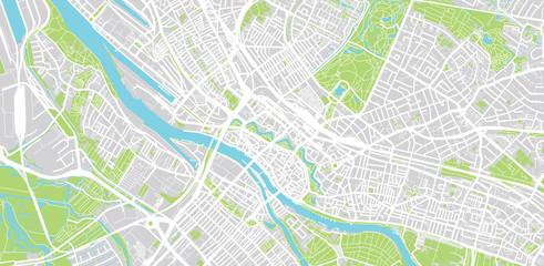 Urban vector city map of Bremen, Germany