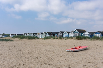 Charming Mudeford, fishing village in Christchurch, Dorset, England, Europe