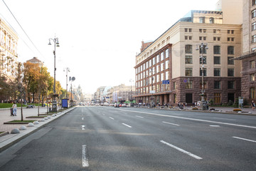 View of road with cars in modern city