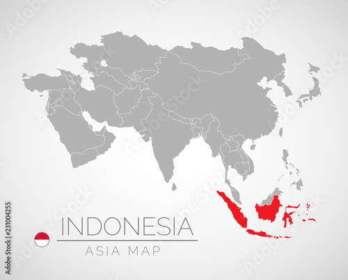 Map Of Asia Indonesia.Map Of Asia With The Identication Of Indonesia Map Of Indonesia