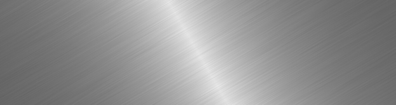 Brushed metal surface. Texture of metal. Abstract steel background. Wide image