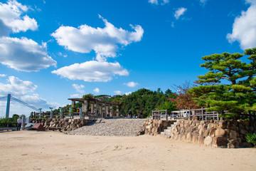 鷲羽山第二展望台 Mt. Washuzan viewing platform in Kurashiki city, Okayama pref. Japan