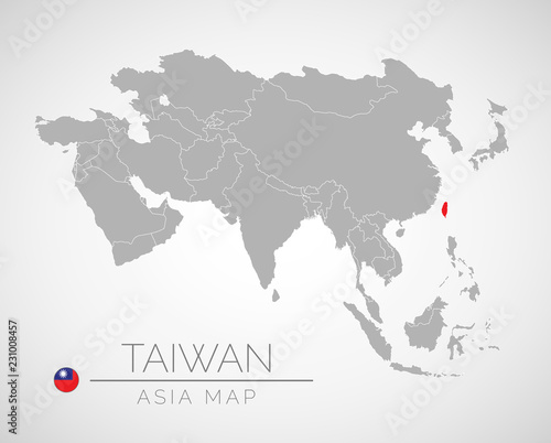 Map Of Asia Taiwan.Map Of Asia With The Identication Of Taiwan Map Of Taiwan