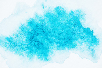 abstract bright turquoise watercolor texture
