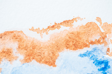 abstract blue and brown watercolor background