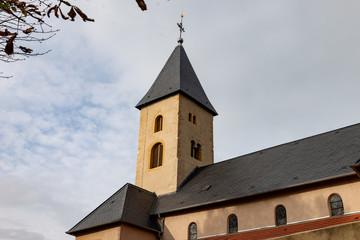 Clocher de l'église Saint-Rémi à Scy-Chazelle en Moselle