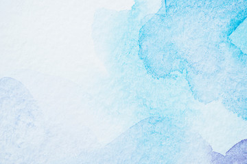 abstract light watercolor blue background