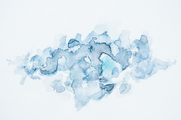 abstract decorative background with blue watercolor blots