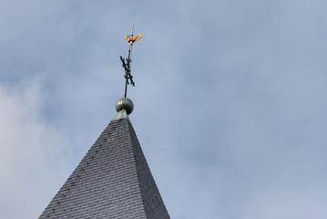 Coq du clocher de l'église de Scy-Chazelles en Moselle
