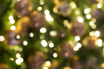Blurred led lights on Christmas tree
