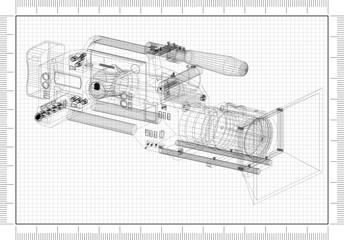 Film camera Architect blueprint